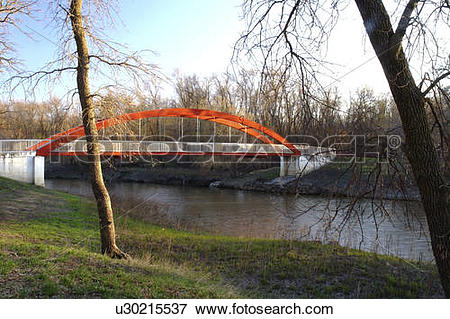 Picture of la barriere park bridge st norbert manitoba u30215537.