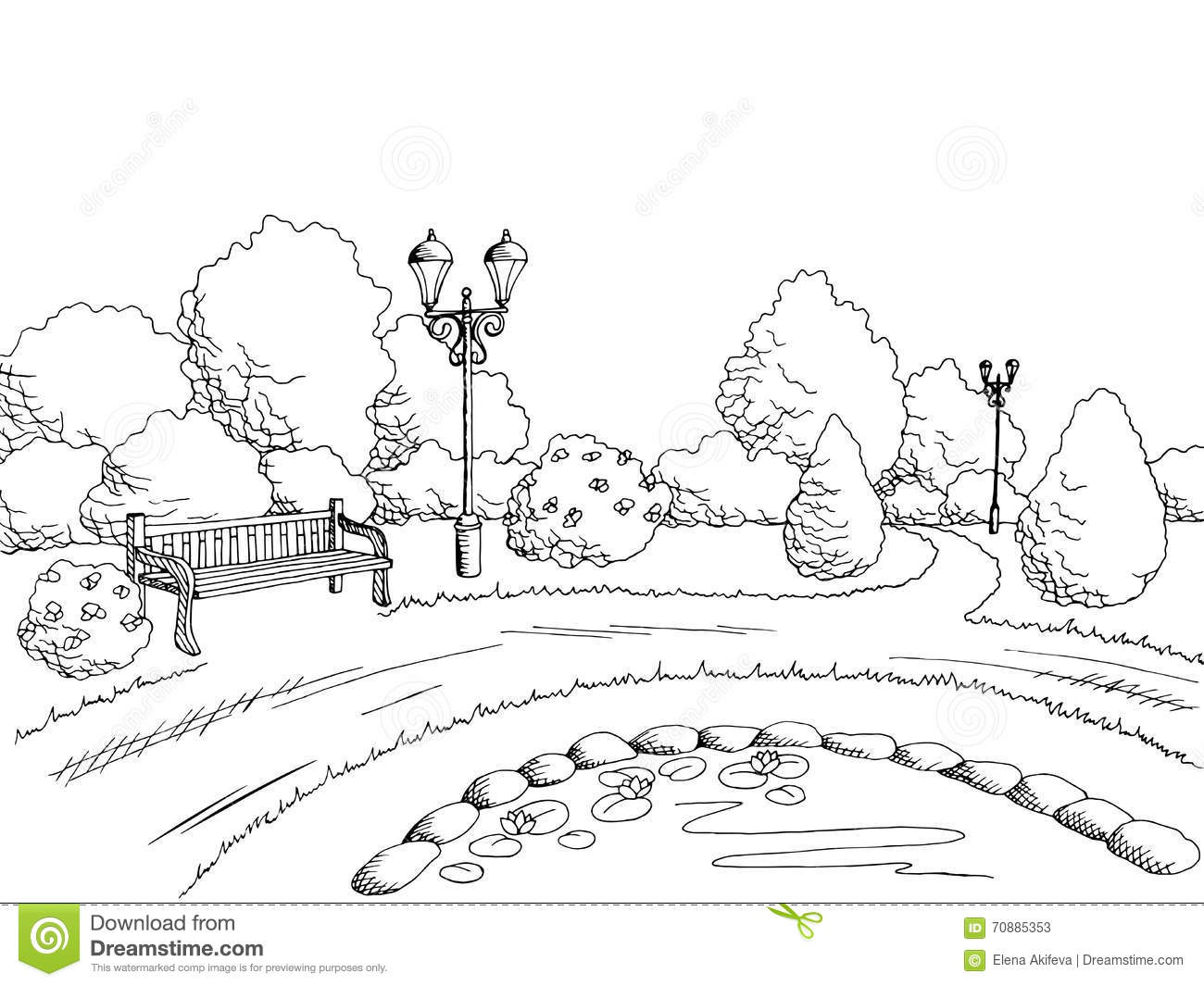 Park clipart black and white 5 » Clipart Station.