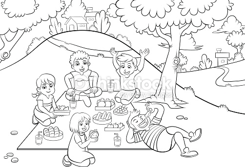 park clipart black and white #5