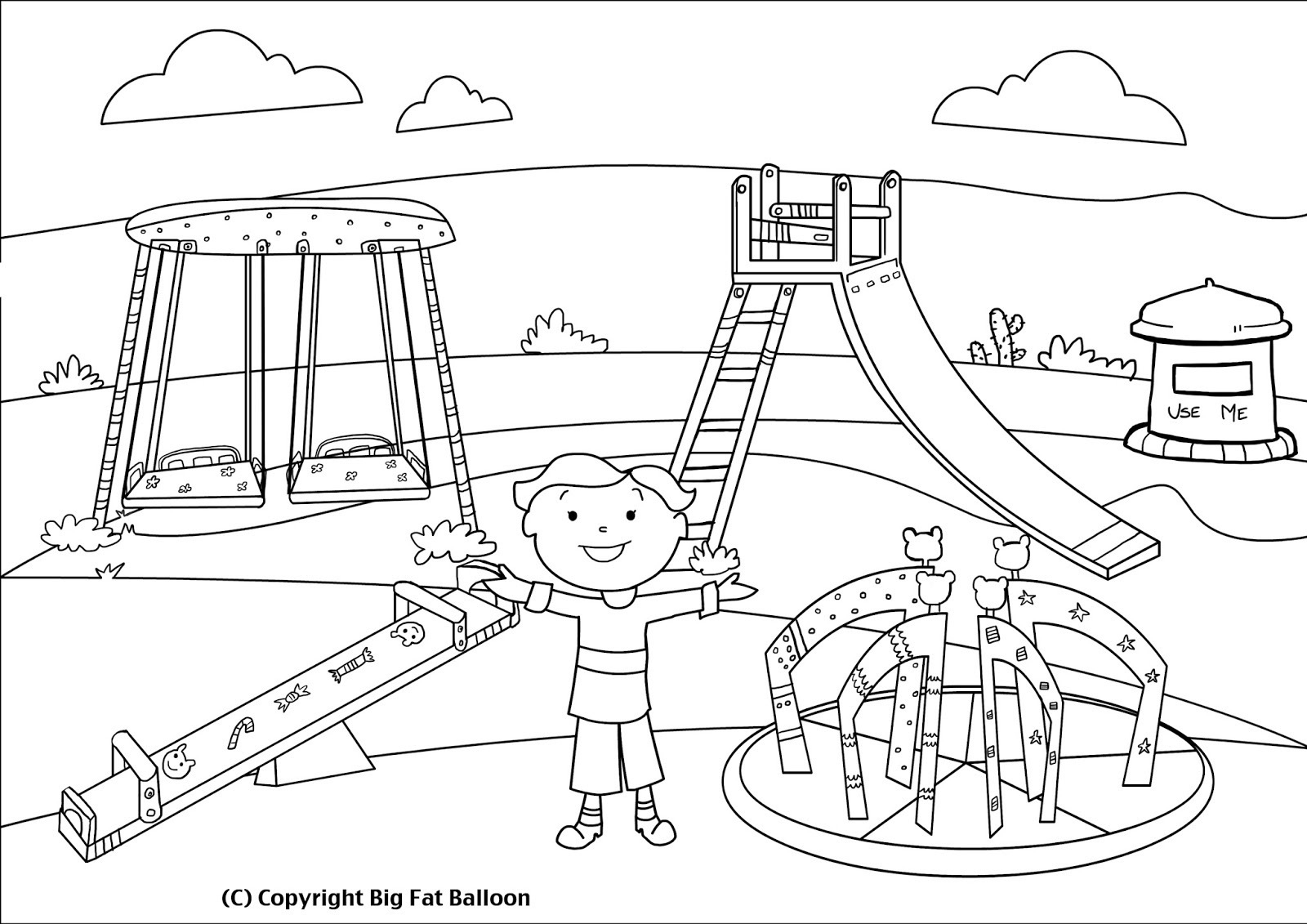 Park Clipart Black And White (90+ images in Collection) Page 3.