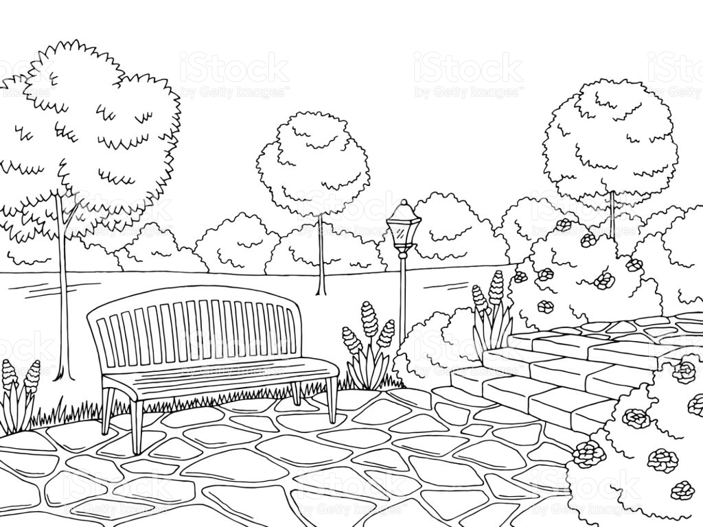 Park clipart black and white 4 » Clipart Station.