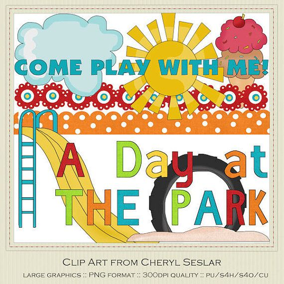 A Day at the Park Clipart by Cheryl Seslar by.