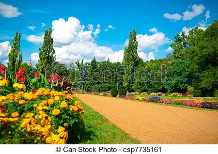 Stock Photography of Garden of flowers.