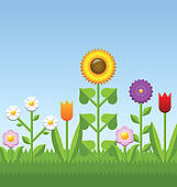 Flower bed Clip Art Royalty Free. 5,395 flower bed clipart vector.
