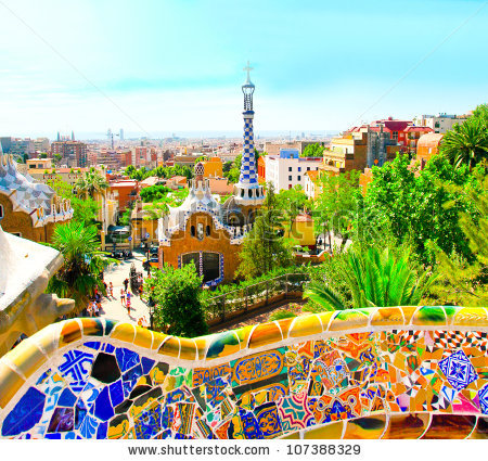 Park Guell Barcelona Spain Stock Photo 174454670.