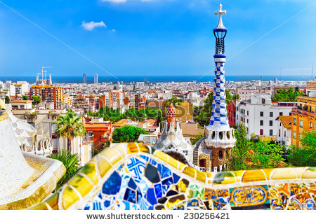 Park Guell Barcelona Spain Stock Photo 174454670.