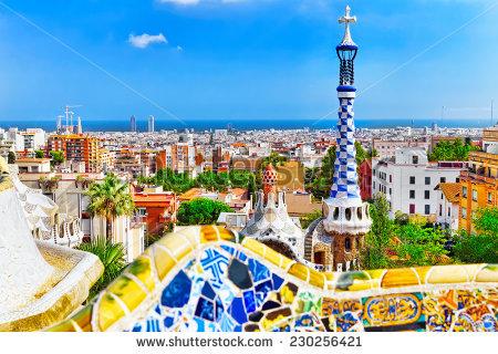 Park Guell Barcelona Spain Stock Photo 174454670