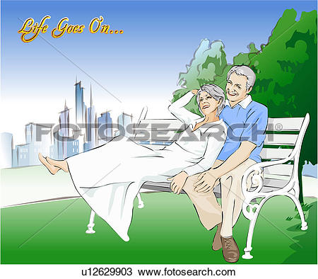 Drawing of plant, outdoors, lawn, bench, park, casual u12629903.