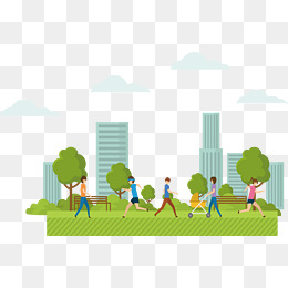 People In The Park PNG Images.