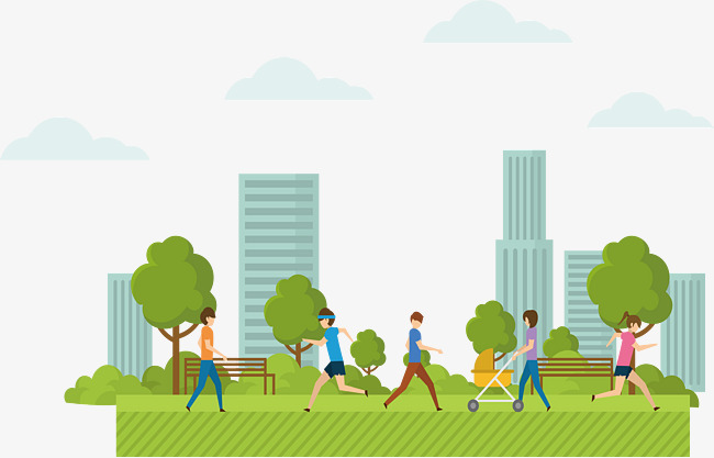 People In City Parks, Vector Png, Park, #323079.