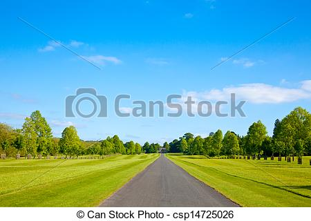 Stock Photo of Straight road.