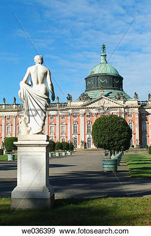 Stock Photograph of New Palace, Sanssouci Park, Potsdam.