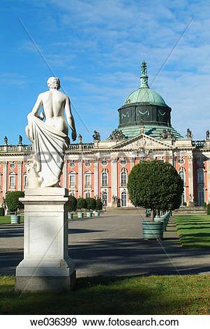 Stock Photograph of New Palace, Sanssouci Park, Potsdam.