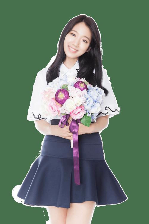 Park Shin Hye Flowers transparent PNG.