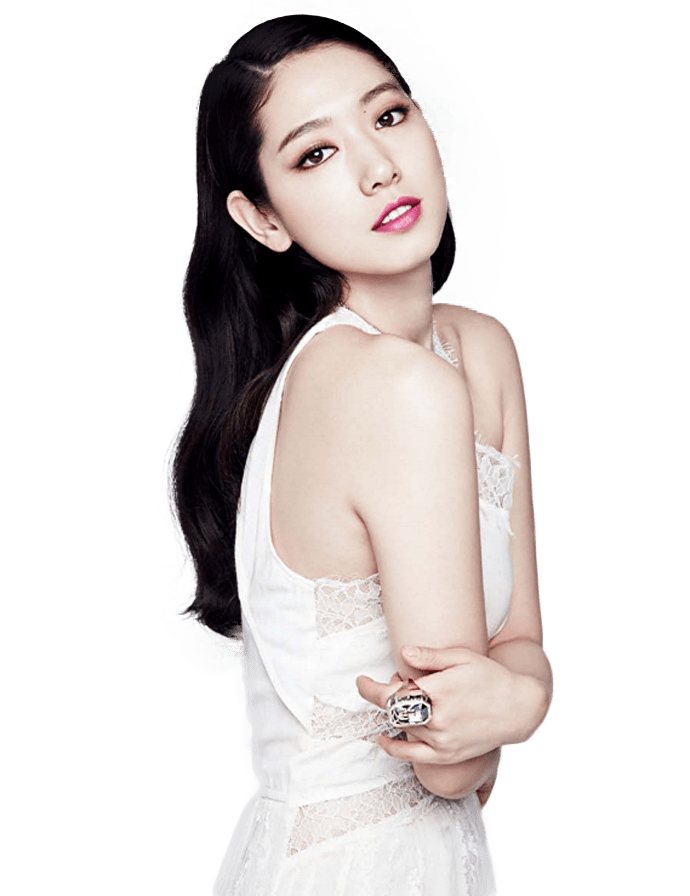 Park Shin Hye Side View transparent PNG.