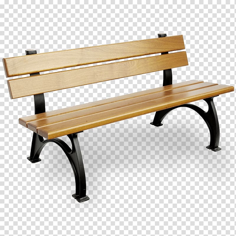 Black and brown bench, Bench Table Lumber Garden Cast iron.