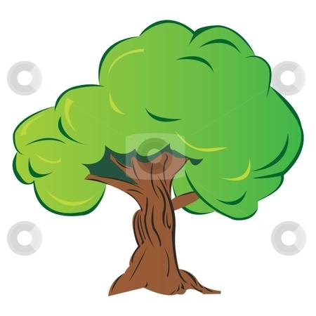 Cartoon tree stock vector.