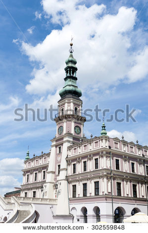 Zamosc Tenement House Arkady Stock Photo 74880943.