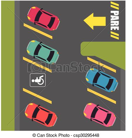 EPS Vector of Parking or park zone design, vector illustration.