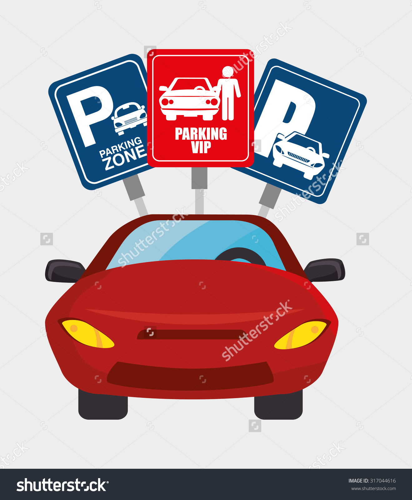Parking Park Zone Design Vector Illustration Stock Vector.