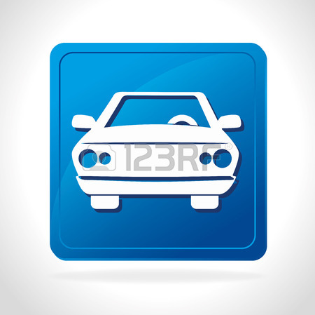 Parking Or Park Zone Design, Vector Illustration. Royalty Free.