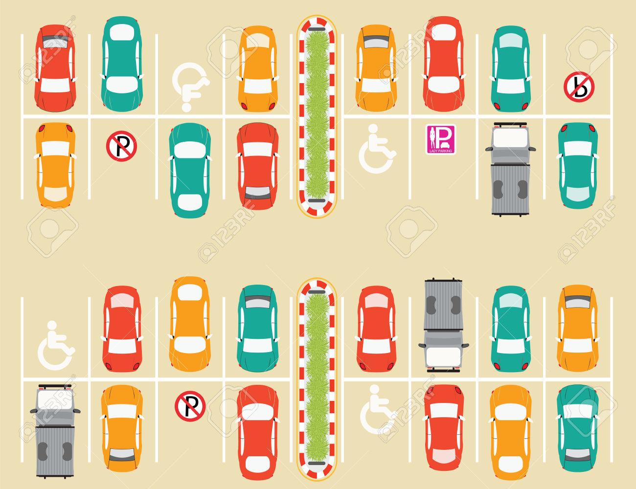 Car Park, Parking Lot , Parking Zone Conceptual Vector.