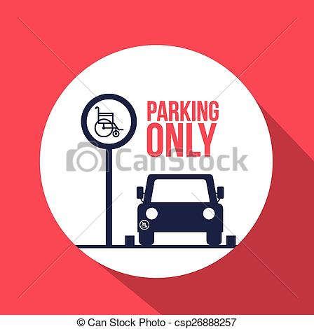 Clipart Vector of Park zone design.
