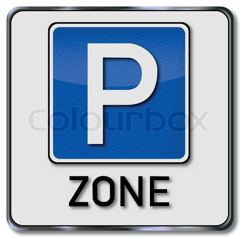 Traffic sign parking zone.
