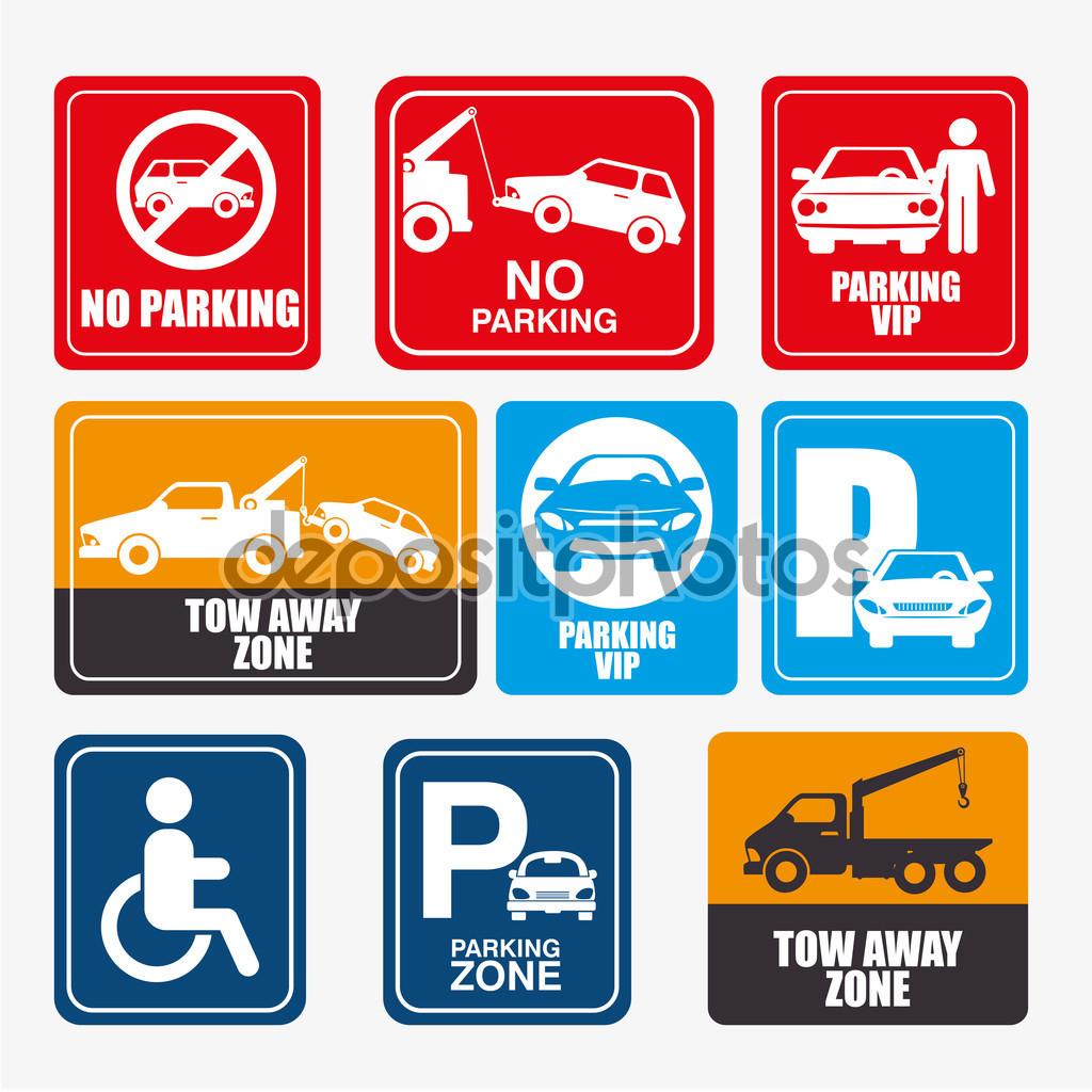 Parking or park zone design — Stock Vector © yupiramos #83705350.