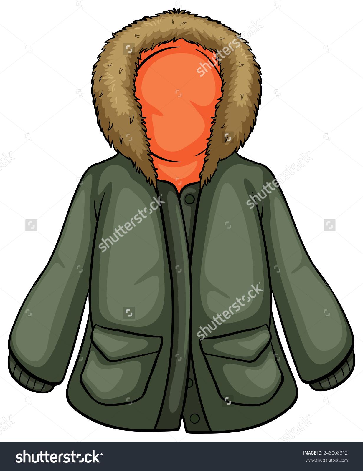 Winter parka clipart