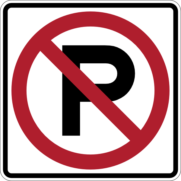 No Parking Sign clip art (109740) Free SVG Download / 4 Vector.