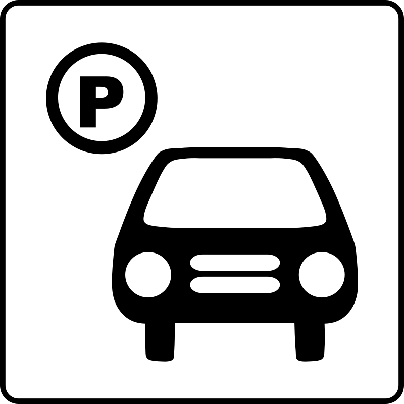 Free Clipart: Hotel Icon Has Parking.