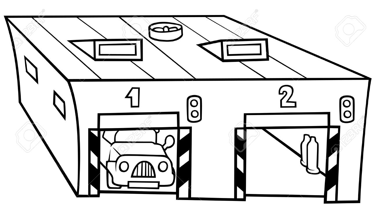 Parking deck clipart