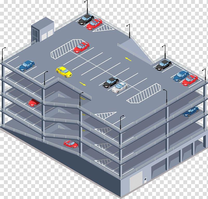 Garage Car Park Parking Storey, Shuichengmen Parking Lot.