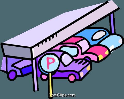 parking garage Royalty Free Vector Clip Art illustration.
