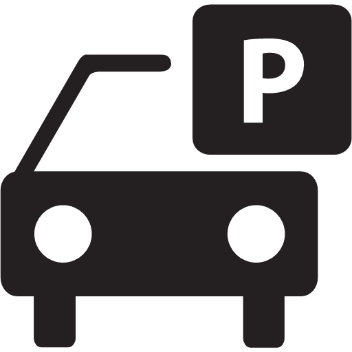 packing parking sign vehicle icon.