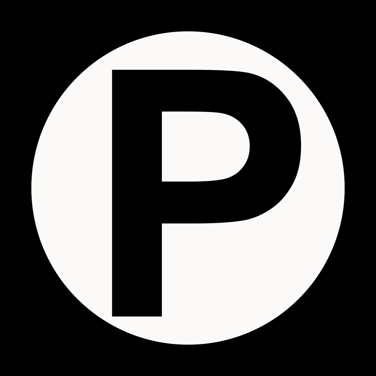 Parking Symbol Circle PNG.
