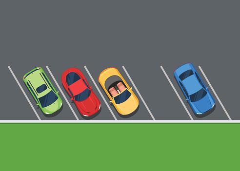 Parking lot color clipart.