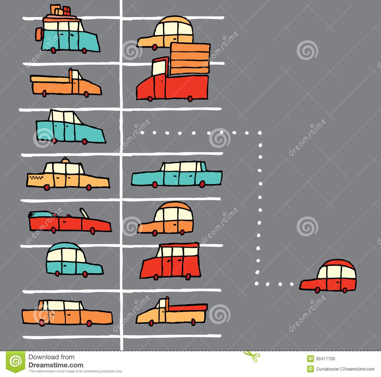 Cartoon Parking Lot Stock Illustrations.