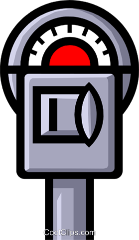 Symbol of a parking meter Royalty Free Vector Clip Art.