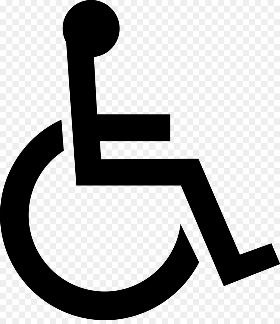 Wheelchair Disability Disabled parking permit Symbol Clip.