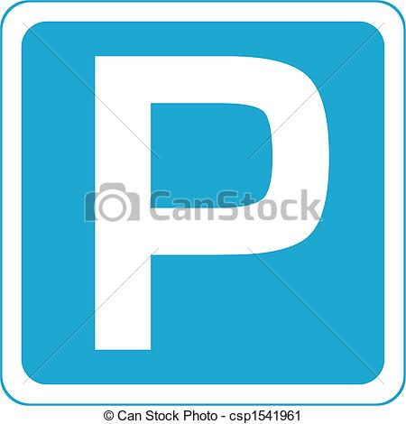 Clipart of parking place sign.