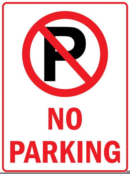 No Parking Signs Clipart.