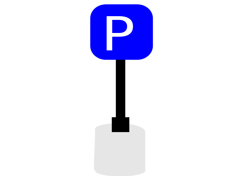 Free Clipart: Parking sign.