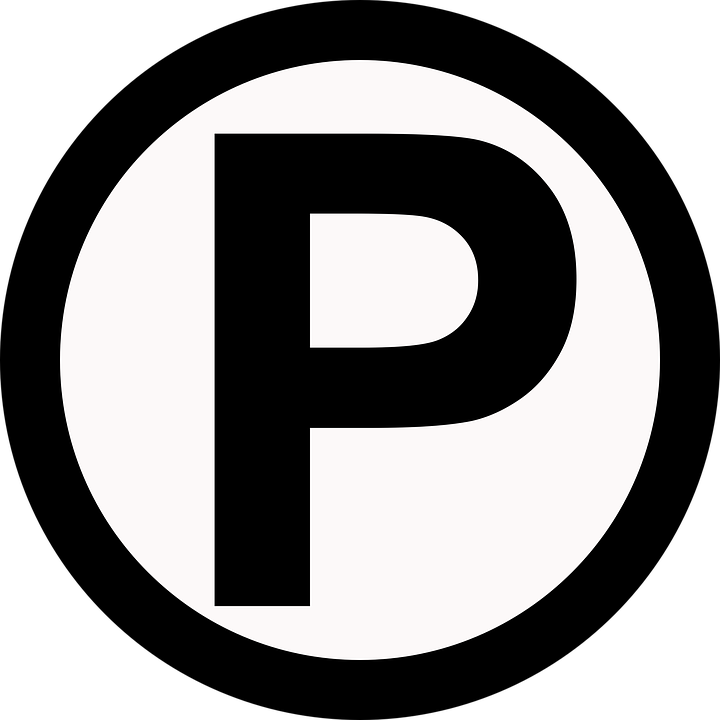 Parking Symbol Transparent Background.