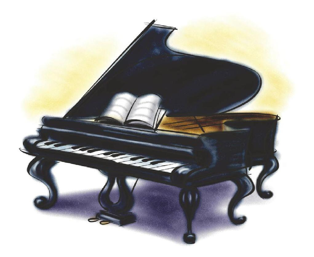 Cartoon Grand Piano Wallpaper.