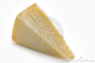 Parmesan Cheese Slice Royalty Free Stock Image.