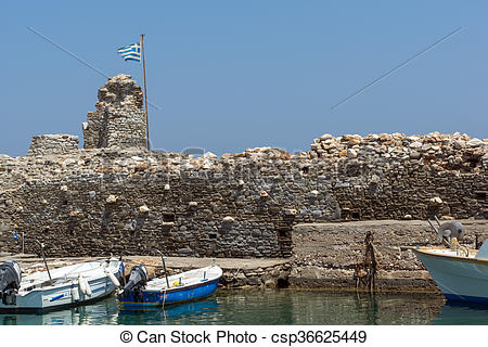 Stock Photo of Venetian fortress, Paros island.