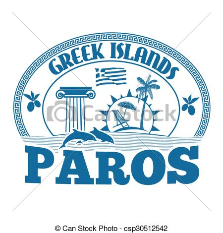 EPS Vector of Paros stamp.