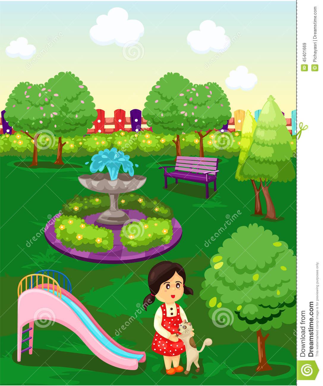 El parque clipart.